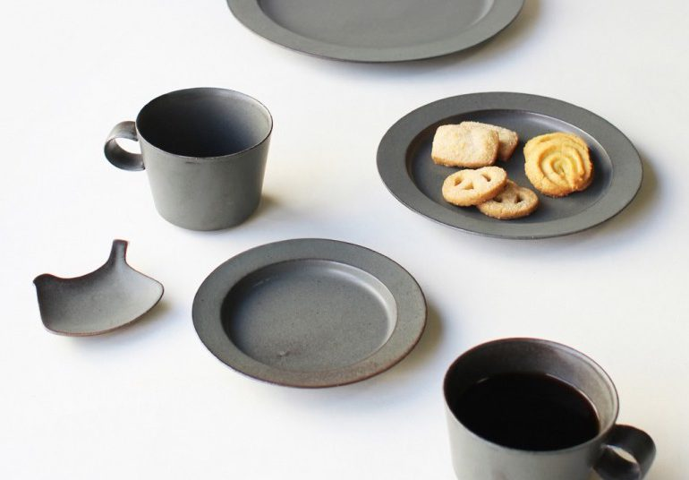 """「original color  """"Foliage Green""""plate & cup」 ANGERS"""